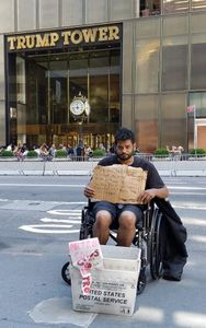 Outside Trump Tower #1, NYC, July 7, 2018