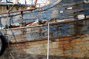 OLD BLUE HULL WITH LINES