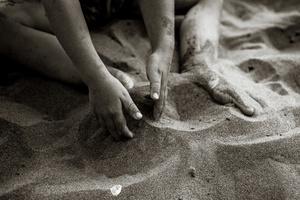 Boy Loves Sand