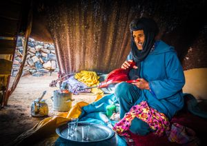 Tea time at the Moroccan desert