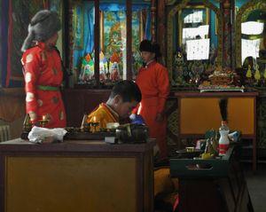 the napping monk, Mongolia