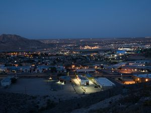 Overlooking El Paso and Ciudad Juarez at Sunrise