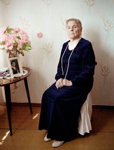 "Anastasia Konstantinova, Minsk, Truck driver. From the series, ""I Reminisce and Cry for Life (Women veterans of II World War in Belarus)"" © Agnieszka Rayss. Finalist, LensCulture Exposure Awards 2013."