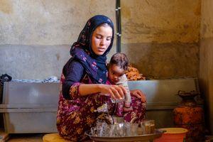 Kadijah and her mother
