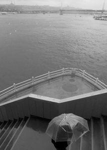 Up the stairs of Galata Bridge