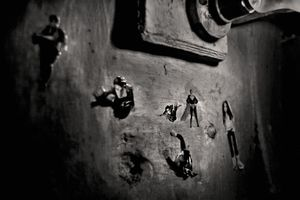 Superman flying on the wall. Shakhari Bazar, 2008. © Munem Wasif