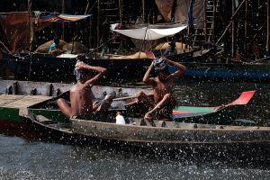 Floating village. Tonle Sap lake. Cambodia. 2013