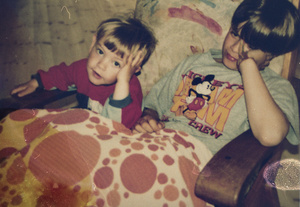 Daniel and his younger brother, Sondre.