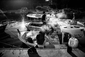 Barbecue on the boat