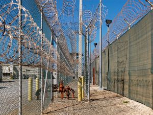 """Camp 4 Perimeter from """"If The Light Goes Out: Home from Guantanamo"""" © Edmund Clark"""