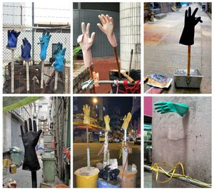 "From the series ""Informal Solutions,"" a visual collection of the endless ingenuity displayed by urban dwellers—using a typological, we discover workers' gloves, drying mops, maze-like ventilation pipes and much more."