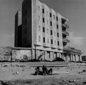 Closed Hotel on beach