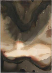 "Untitled [Forte Fortezo Grade 2 Fiber Base Double-weight Semi-matt Surface], 2014, unique silver gelatin chemigram, 7.75"" x 5.5"""