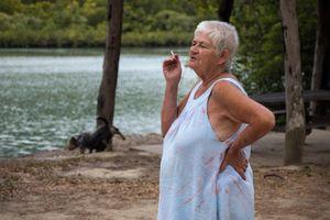 Walk the dog, smoke a ciggy