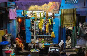 Shyambazaar stall at night, Kolkata