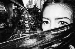 Bangkok traffic, Thailand, 2015