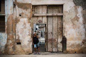 Man in Doorway, Havana, Cuba, 2015