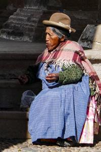 Woman in Market, Bolivia