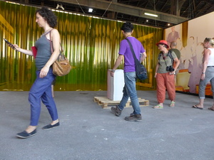 Visitors. Arles, July 2015