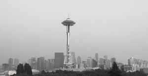 The skyline of downtown  Seattle