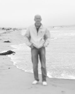 Father, Archive Image on Beach, 2005