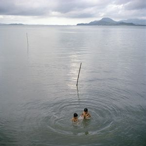 Moken fishing community, Pulo island, Anadaman Sea, Thailand.