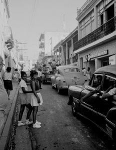 Teens and old man,Cuba,  Santiago de Cuba, Kuba,  January 1996
