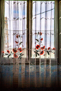 Curtains in the home of Elisabetha Jacob, Archita 2015