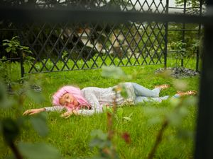 Pink wig little girl #5