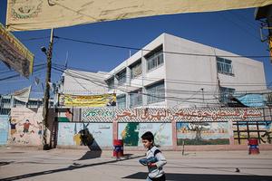 UNRWA school.