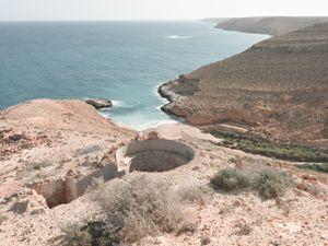 "Bunker Z101 overlooking Mersa Zitoune, Wadi Zitoune Battlefield, Tobruk perimeter, Libya | From the book ""Topography is Fate: North African Battlefields of World War II"" | © Matthew Arnold Photography"