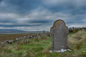 Killaspugbrone Cemetery, Strandhill, Sligo, Ireland.