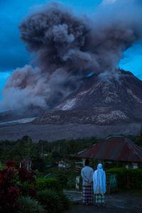 living with a volcano Indonesia