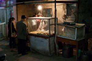 Night vendor in Caochangdi