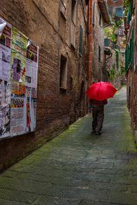 Red Umbrella In Italy