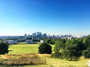 Canary Wharf From Greenwich Observatory