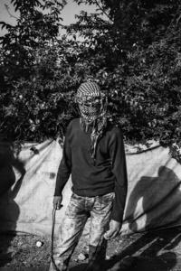 Palestinian stone-thrower.