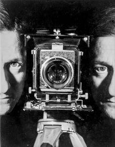 Self-Portrait, Paris, ca. 1937. Gelatin silver print. Printed later. Collection Helaine and Yorick Blumenfeld © The Estate of Erwin Blumenfeld