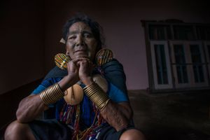 an old woman from the face tattooed tribes in chin state myanmar