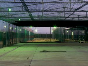 """Camp 1 Recreation Cage from """"If The Light Goes Out: Home from Guantanamo"""" © Edmund Clark"""