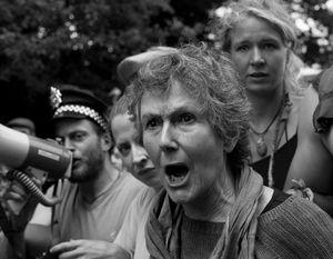 Anti-fracking protest, Balcombe, UK, 2013.