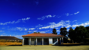 MIddelpos Post Office / The post office of Middelpos, a tiny village in western Karoo. Besides the post office or poskantoor, there is a hotel and a memorial to the soldiers fallen in a skirmish during the second anglo-boer war.