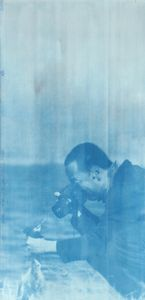 """Canon Rebel, 2014. From the series """"Cyanotypes."""" Showing at Roman Road. Courtesy of PhotoLondon."""