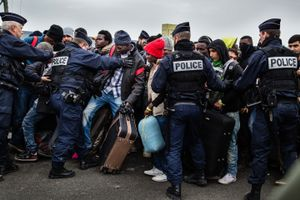 November 2016, Calais, France. During the final eviction of the Jungle Camp, the bad organizatiion by French authorities and the growing frustration of refugees leads to tensions. The Jungle Camp is been totally dismantled at the end of november, with most refugees being relocated in centres across France, but others hiding elsewhere waiting for their chance to go to the UK.