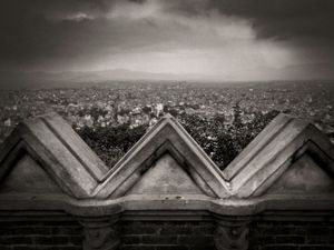 View over Kathmandu from Swayambhunath