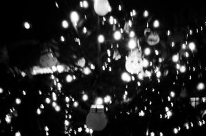 Christmas lights. Prague.