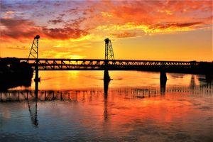 Meridian Bridge Breaking Dawn