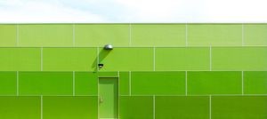 Green Wall And Sky