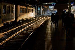 Evening Rush on Platform 5