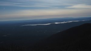 Steve Gentile - Ashokan Reservoir from Overlook Mountain Woodstock (panoramic)